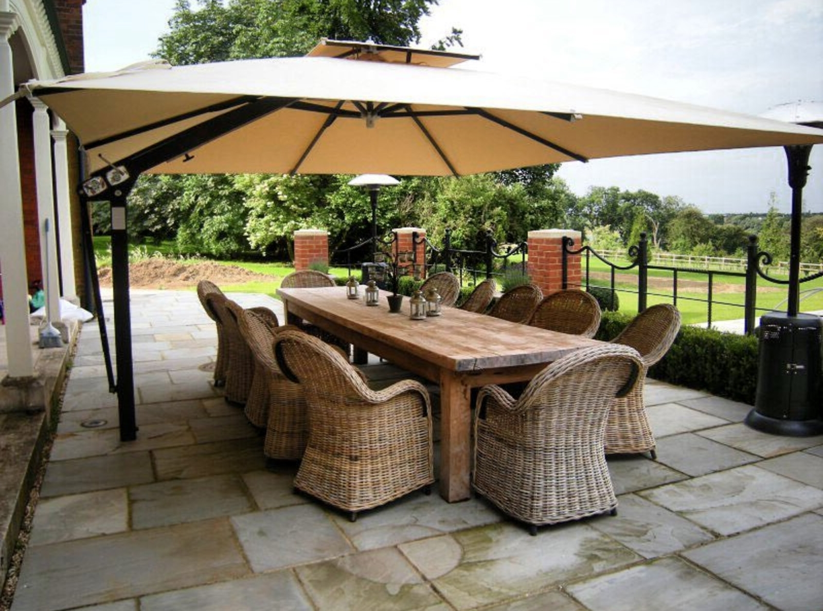 Current High End Patio Umbrellas For Customer Round Up: 10 High End Patio Umbrella Set Ups That Will (View 7 of 20)