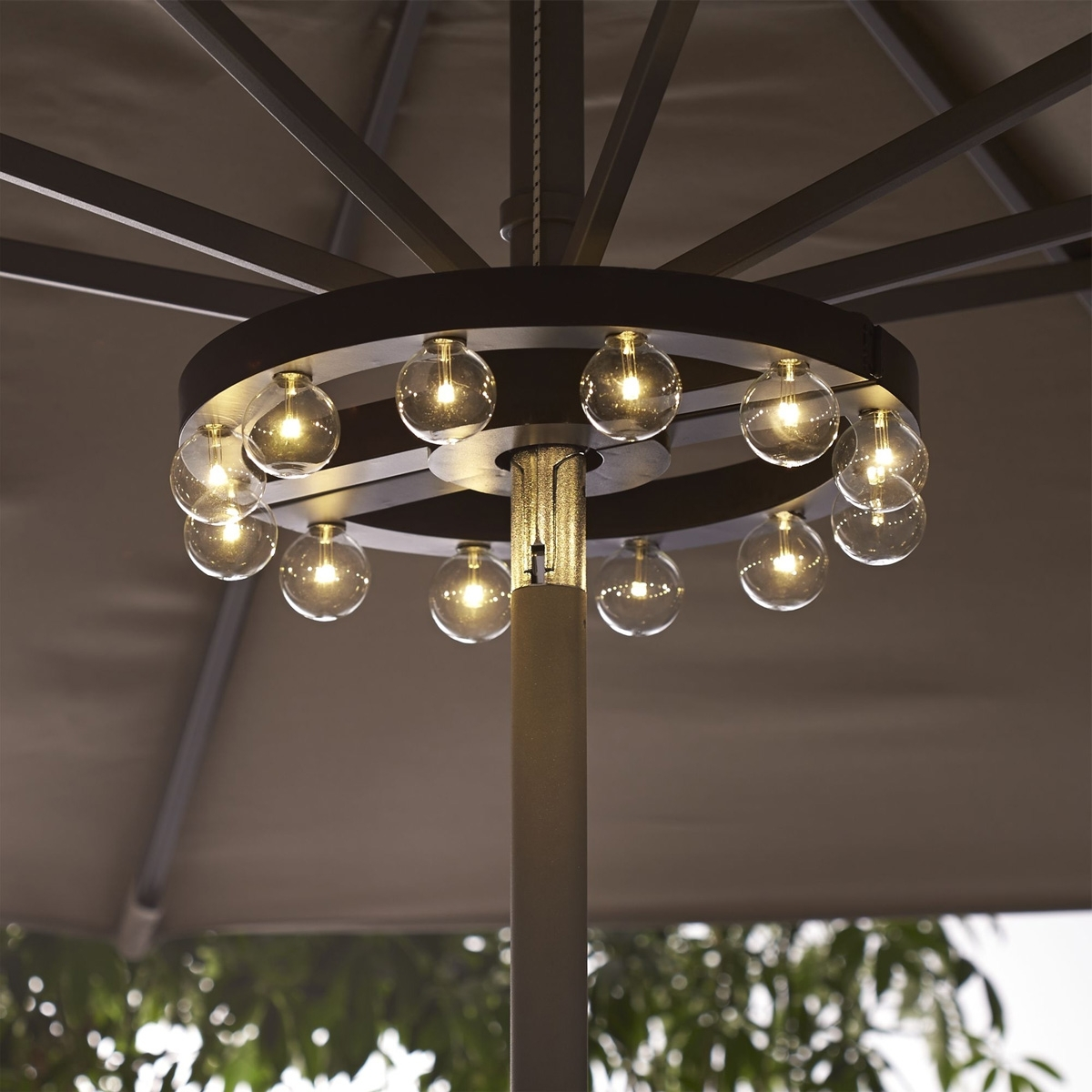 Current Lighted Patio Umbrellas With Regard To Patio Umbrella Light — Mistikcamping Home Design : Different Patio (View 4 of 20)
