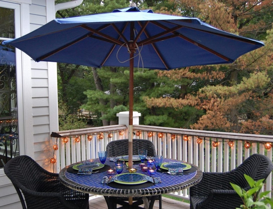 Current Rectangle Patio Table Umbrella Tablecloth (View 20 of 20)