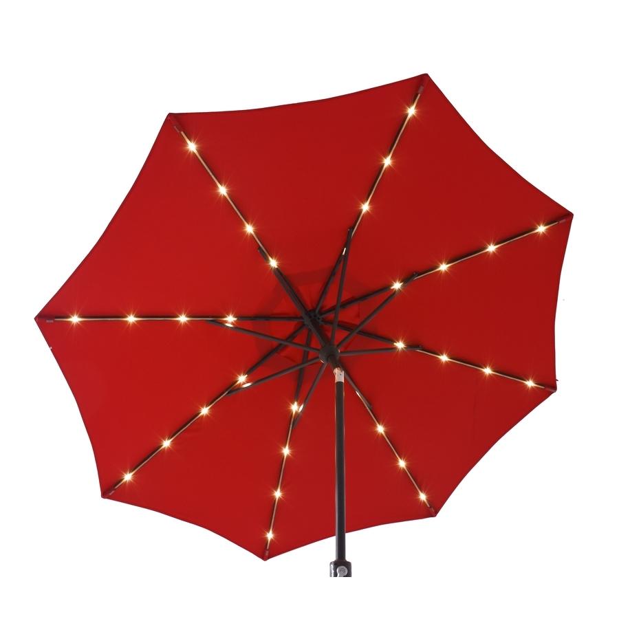 Current Shop Patio Umbrellas At Lowes Regarding Lighted Patio Umbrellas (View 20 of 20)