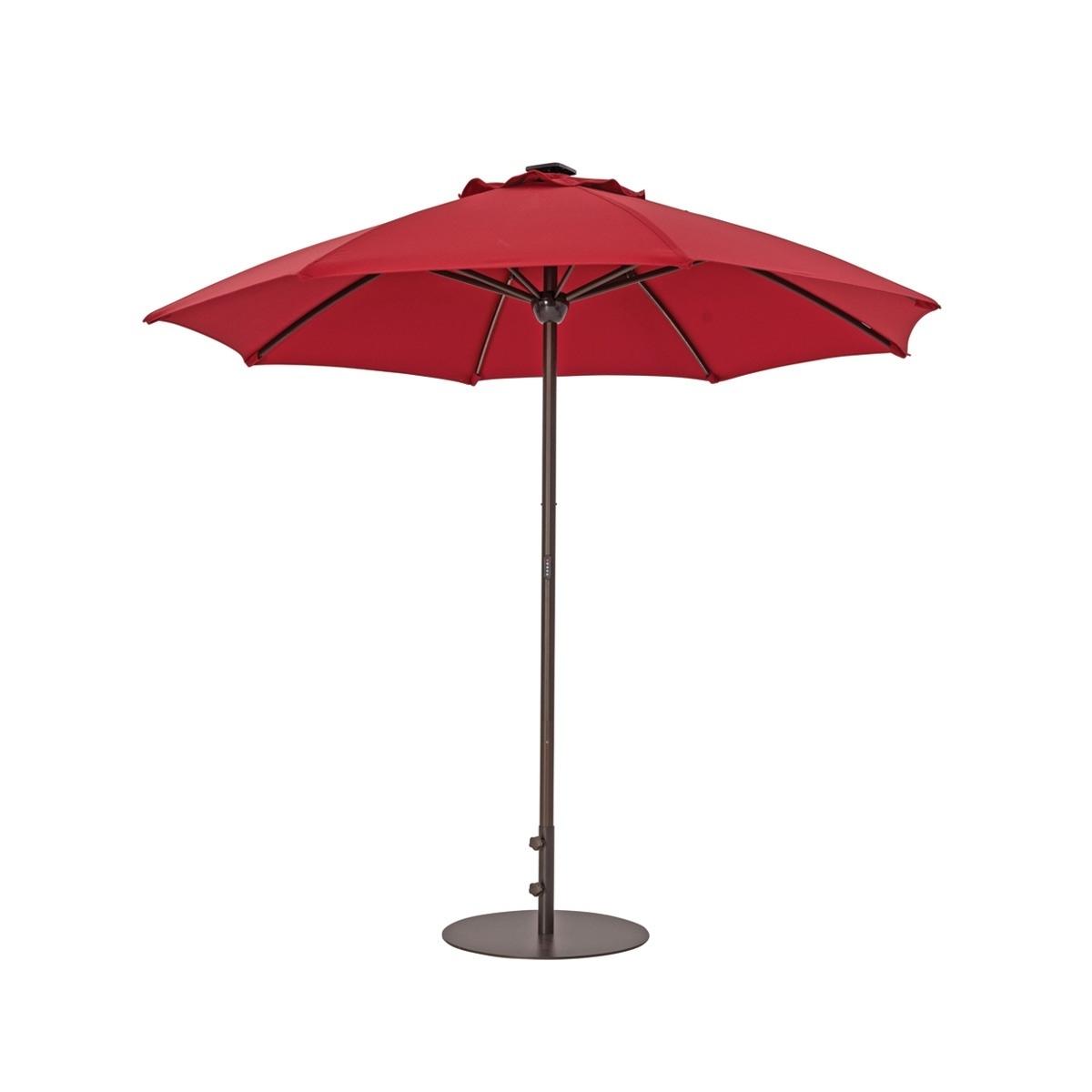 Current Sunbrella Patio Umbrellas With Solar Lights With Patio Umbrellas With Solar Lights (View 4 of 20)