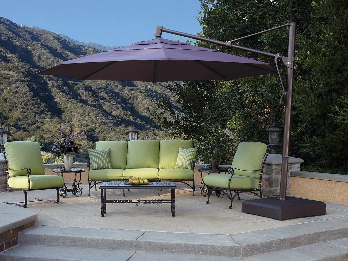 Custom Sunbrella Patio Umbrellas Within Well Known Treasure Garden 13' Octagon Cantilever Umbrella (View 2 of 20)