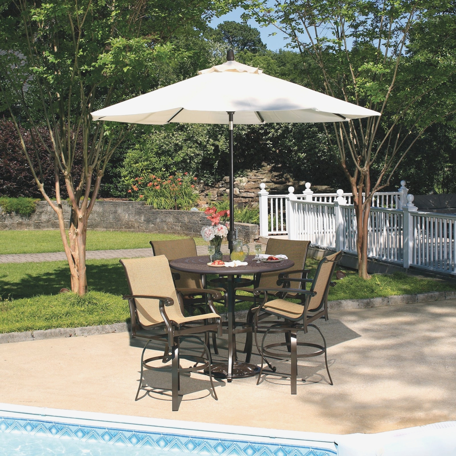 Dadisinthehouse Pertaining To Popular Vinyl Patio Umbrellas (Gallery 10 of 20)