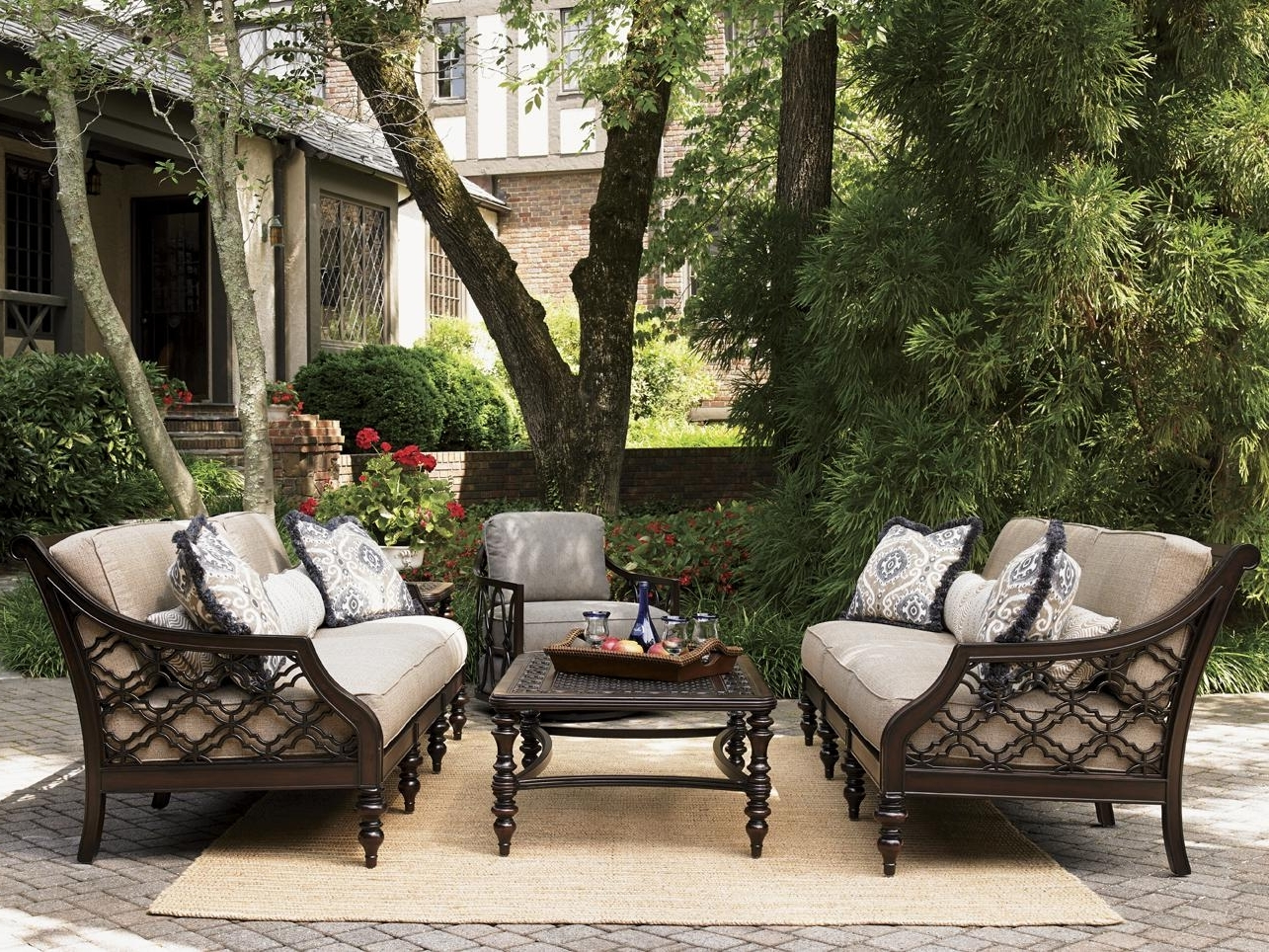 Decoration Patio Bench Outdoor Table And Chairs Outdoor Patio In Most Current Patio Furniture Sets With Umbrellas (View 13 of 20)