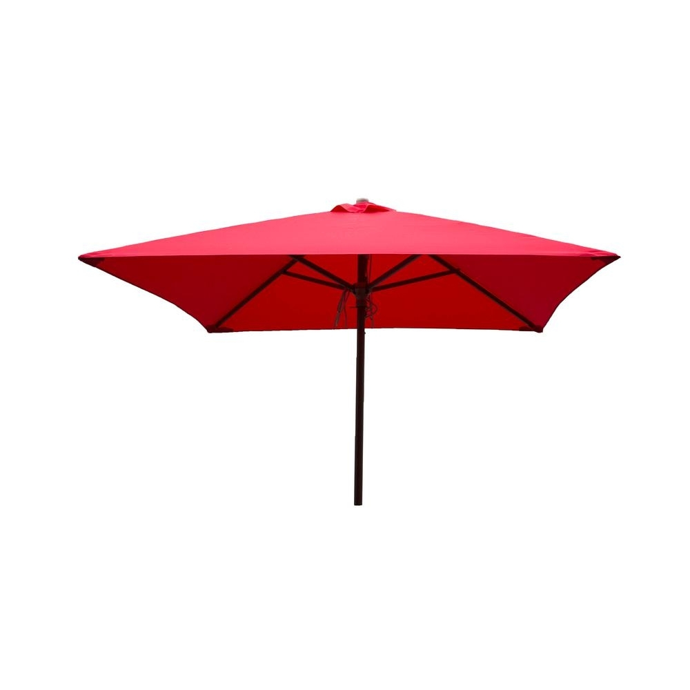 Destinationgear Classic Wood 6.5 Ft. Square Patio Umbrella In Red In Most Up To Date Pink Patio Umbrellas (Gallery 7 of 20)