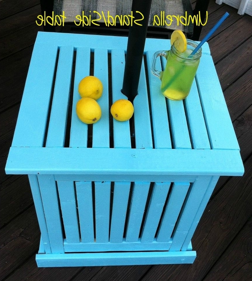 Diy Patio, Patio Umbrellas And Patios In Patio Umbrella Stand Side Tables (Gallery 5 of 20)