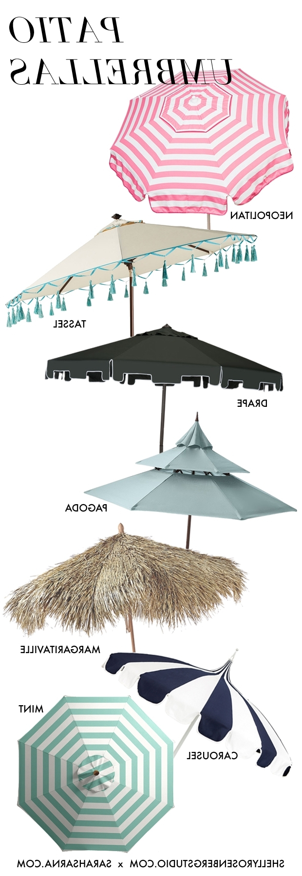 Drape Patio Umbrellas With Regard To Most Up To Date Keep Your Cool: 7 Stylish Patio Umbrellas (Gallery 4 of 20)