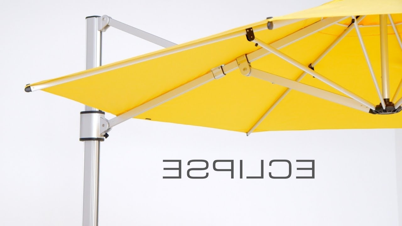 Eclipse Cantilever Umbrellainstant Shade Umbrellas – Youtube Intended For Well Liked Eclipse Patio Umbrellas (View 5 of 20)
