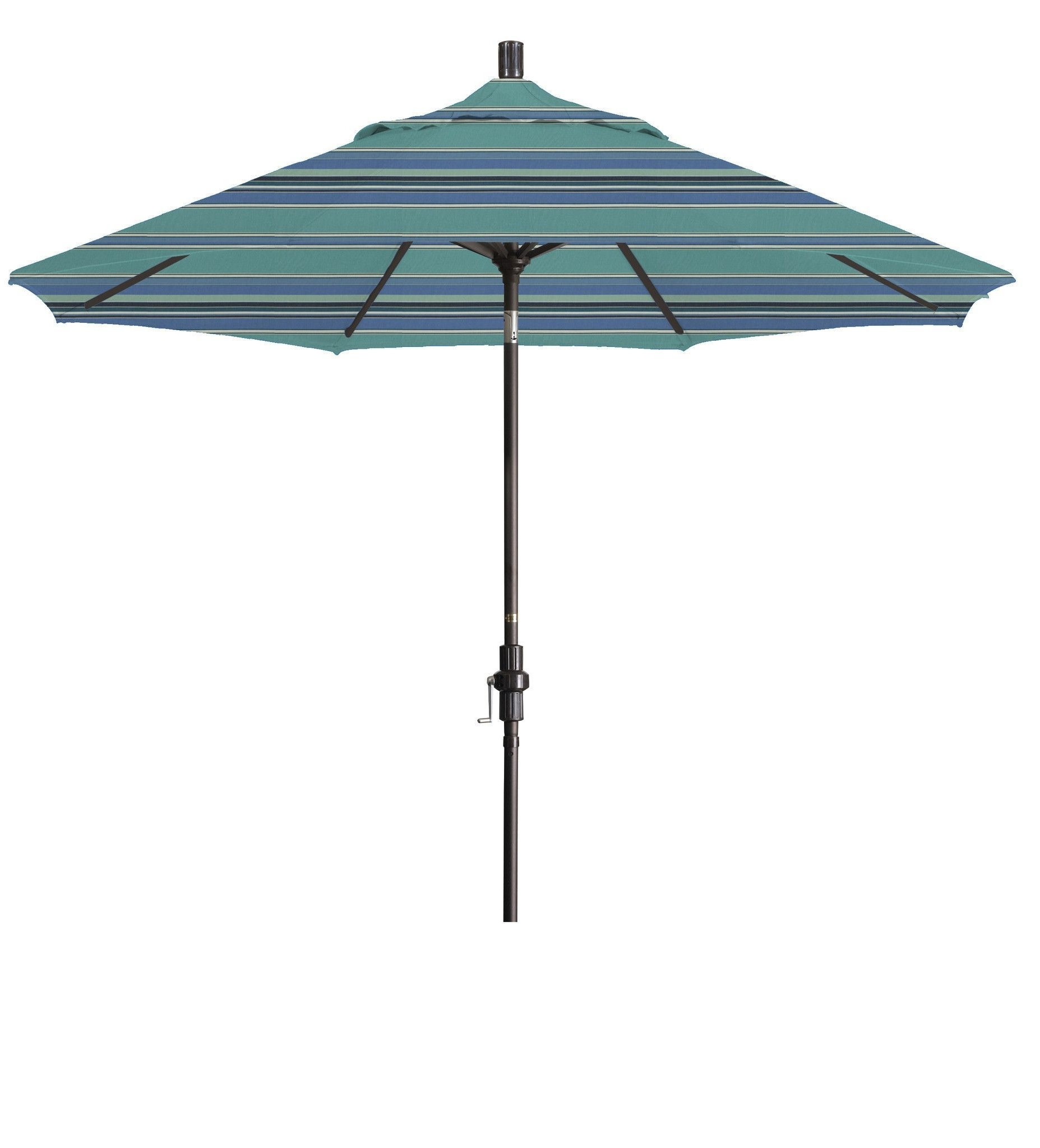 Eclipse Collection 9' Aluminum Market Umbrella Collar Tilt – Bronze Throughout Current Eclipse Patio Umbrellas (View 7 of 20)