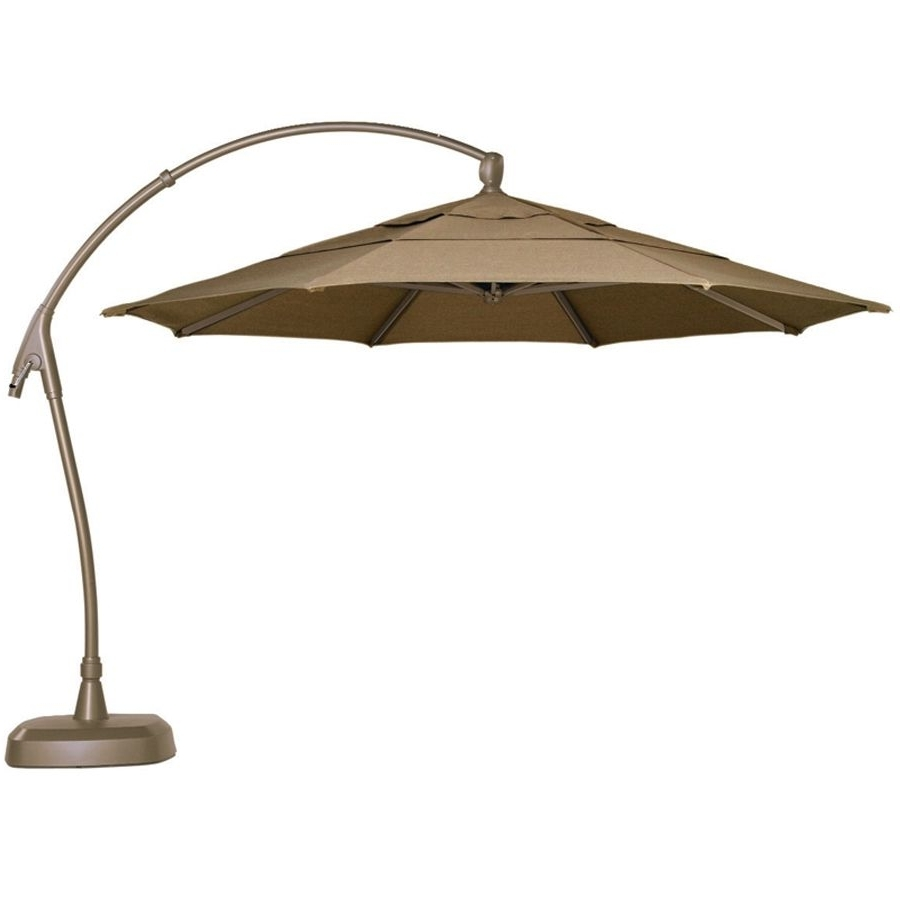 European Patio Umbrellas For Preferred 11 Cantilever Patio Umbrella With Base (Gallery 13 of 20)
