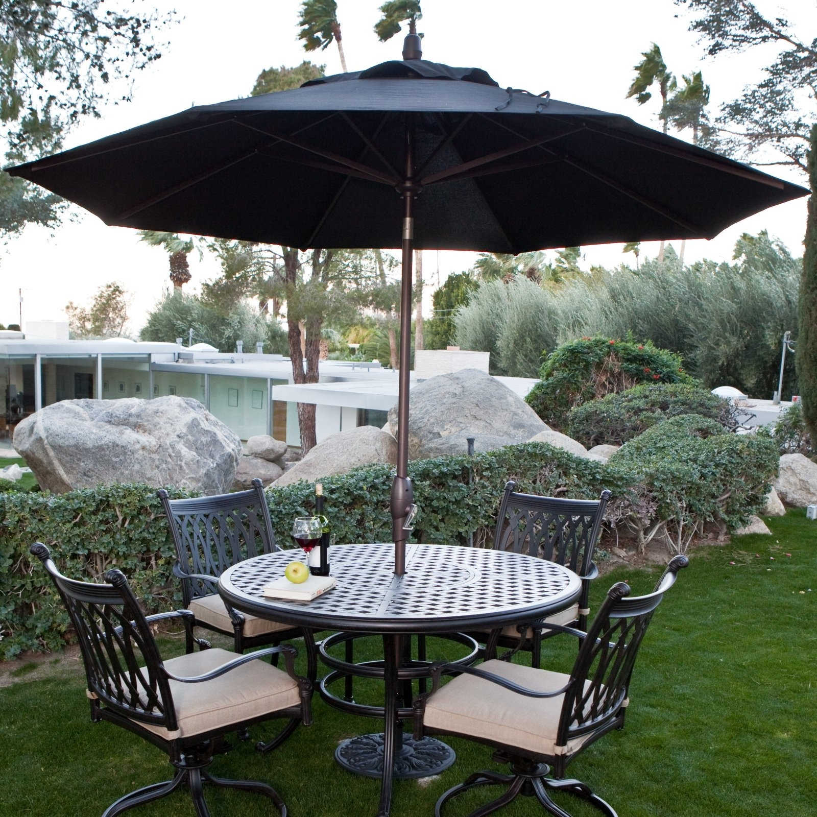 European Patio Umbrellas Regarding Most Popular Coral Coast 40 Lb (View 19 of 20)