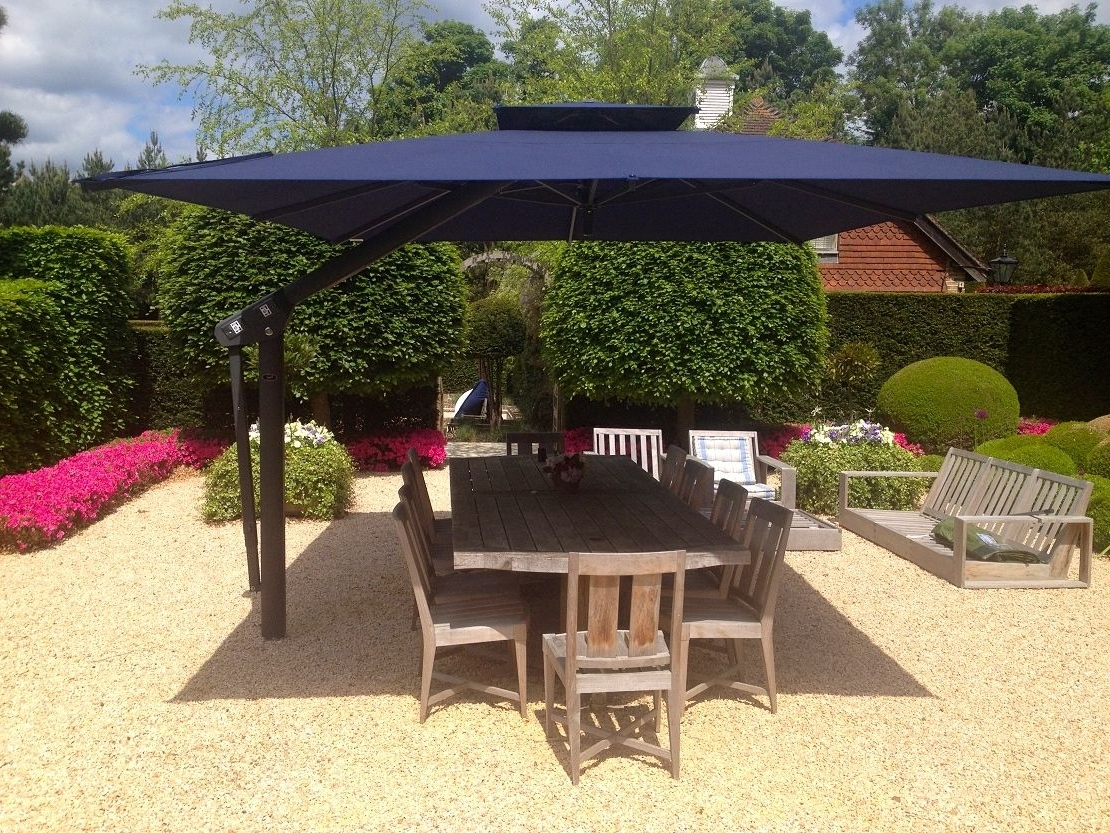 European Patio Umbrellas With Regard To Fashionable Large Outdoor Table Patio Umbrellas Extra Round Covers Dining Set (View 18 of 20)