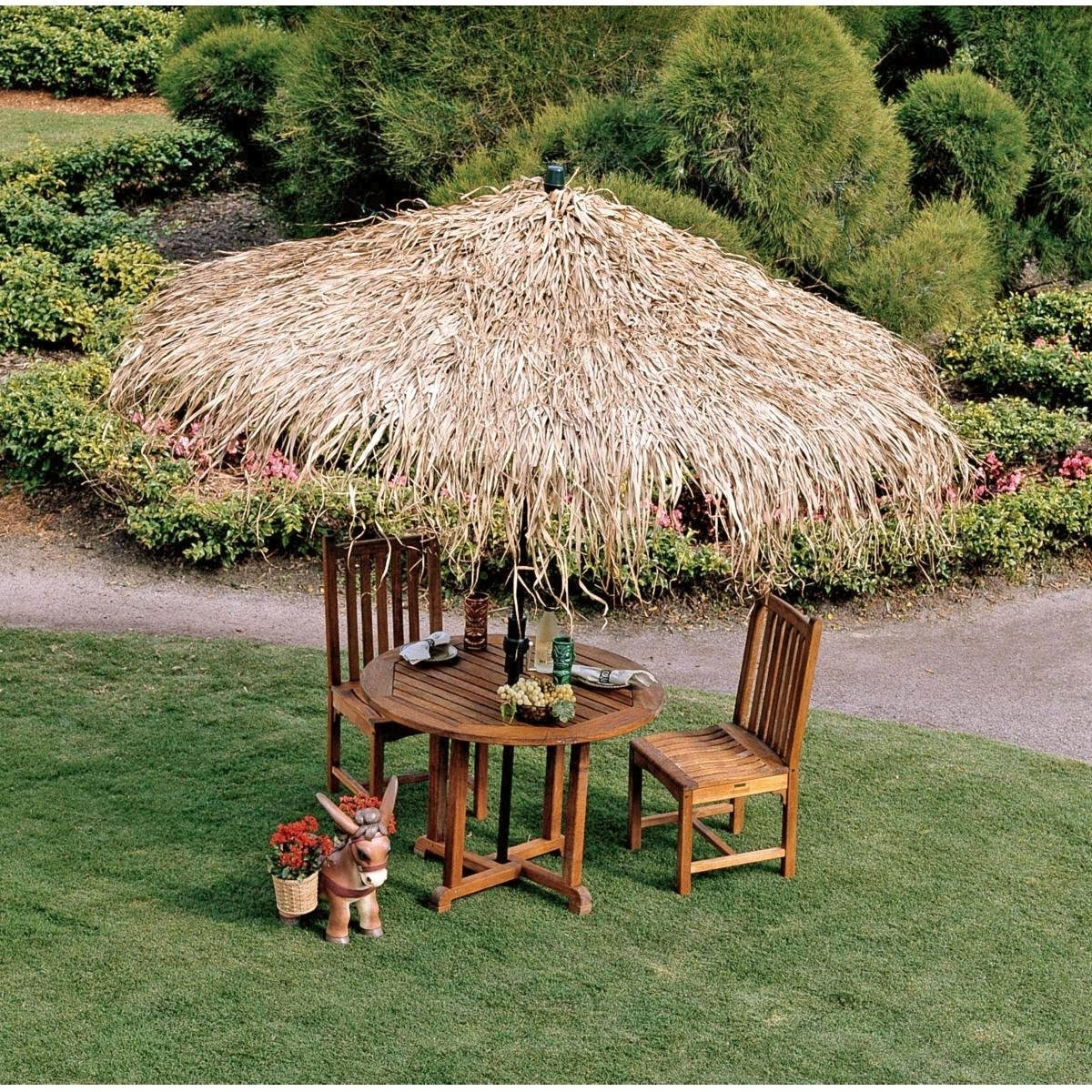 Exotic Patio Umbrellas Intended For Recent Tiki Hut Structures And Furniture Pieces For Homes – Outdoor Bar (View 6 of 20)