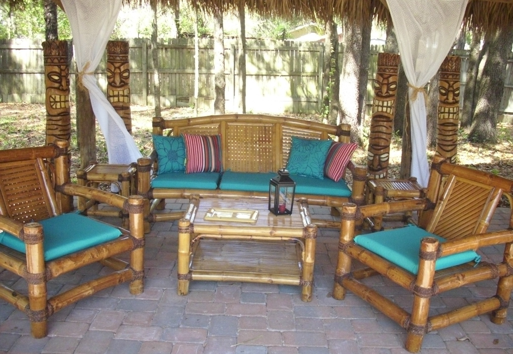 Exotic Patio Umbrellas With Most Current Custom Built Tiki Huts  Tiki Bars Nationwide Delivery (View 10 of 20)