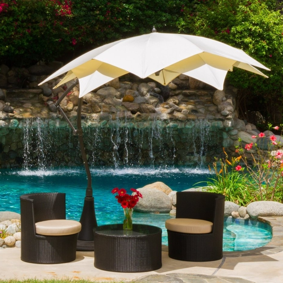 Fabulous Outdoor Patio Sets With Unique Umbrella And Flower Vase With Best And Newest Unusual Patio Umbrellas (View 4 of 20)