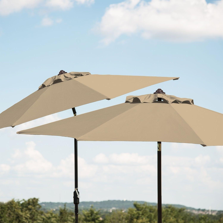 Famous 10' Market Umbrella – Beige – Sam's Club (View 19 of 20)