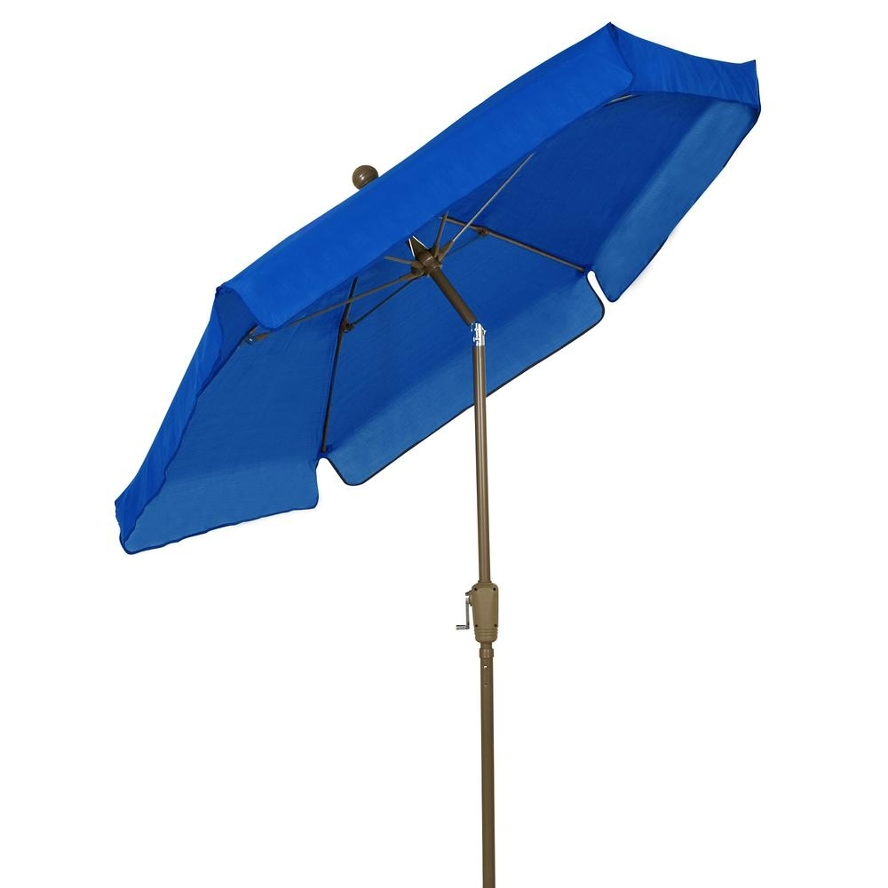 Famous Blue Patio Umbrellas Intended For Fiberbuilt Umbrellas 7.5 Ft (View 6 of 20)