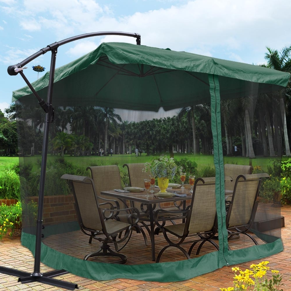 Famous Hanging Patio Umbrellas Within Offset Patio Umbrella Parts (View 16 of 20)