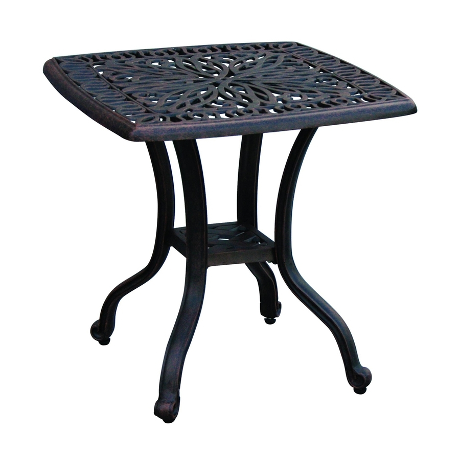 Famous Patio Umbrellas With Accent Table With Regard To Shop Darlee Elisabeth 21 In W X 21 In L Square Aluminum End Table At (View 17 of 20)