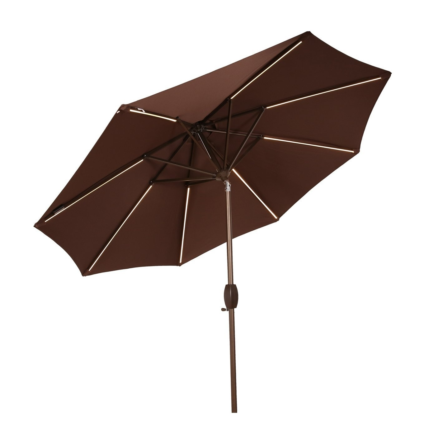 Famous Patio Umbrellas With Led Lights Pertaining To Buy Ulax Furniture 9 Ft Solar Powered Led Lights Patio Umbrella (View 19 of 20)