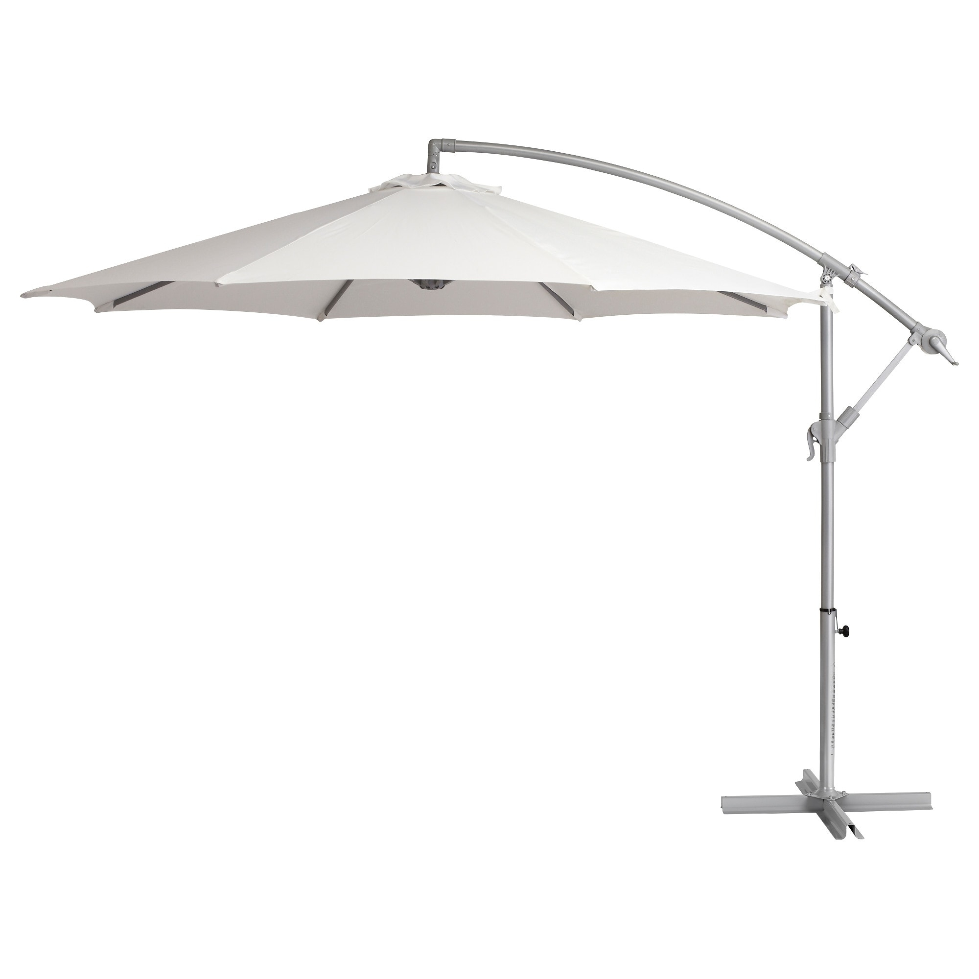 Famous Patio Umbrellas With White Pole Pertaining To Baggön Offset Patio Umbrella – Ikea (View 8 of 20)