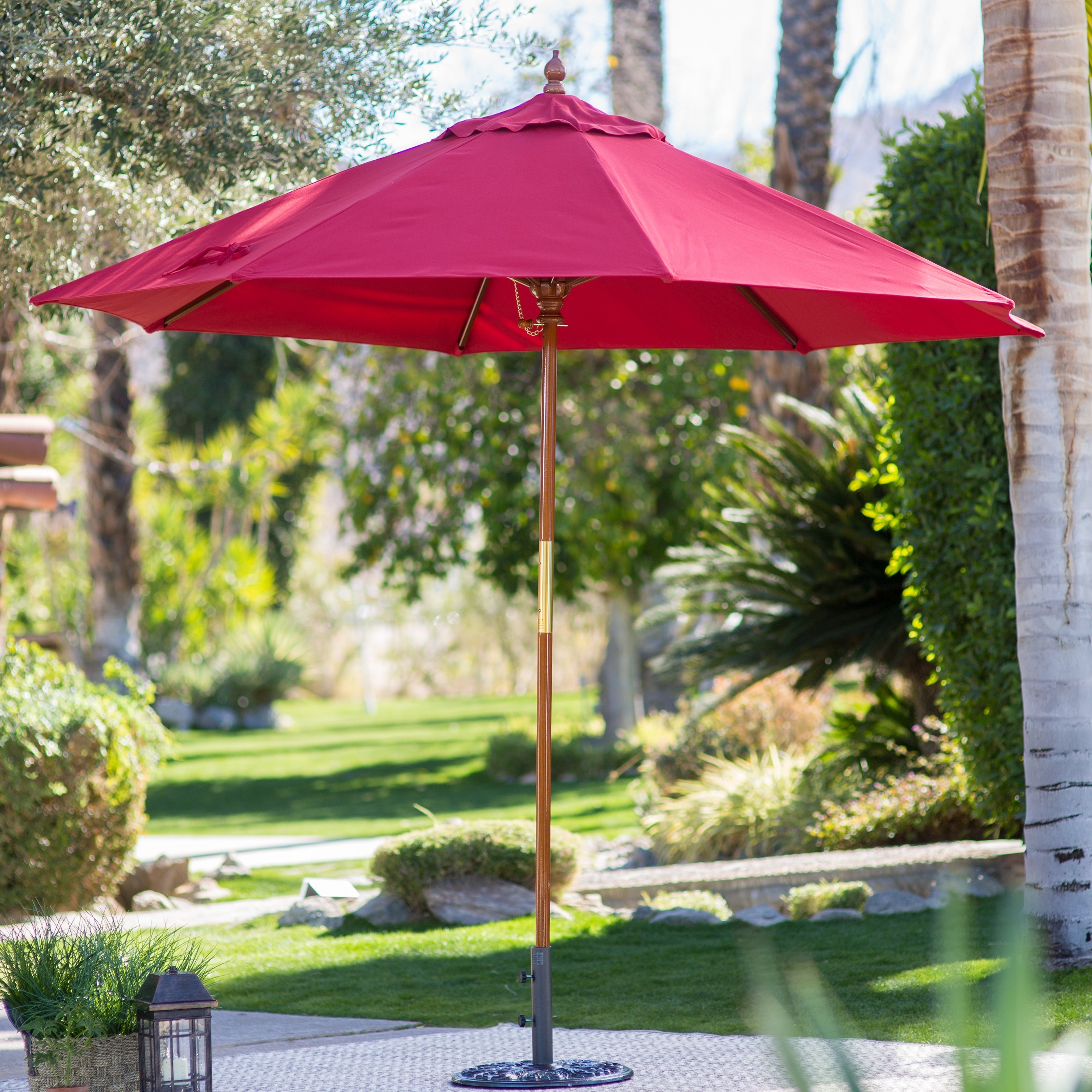 Famous Sunbrella Patio Umbrella With Lights Inside Belham Living 9 Ft (View 6 of 20)