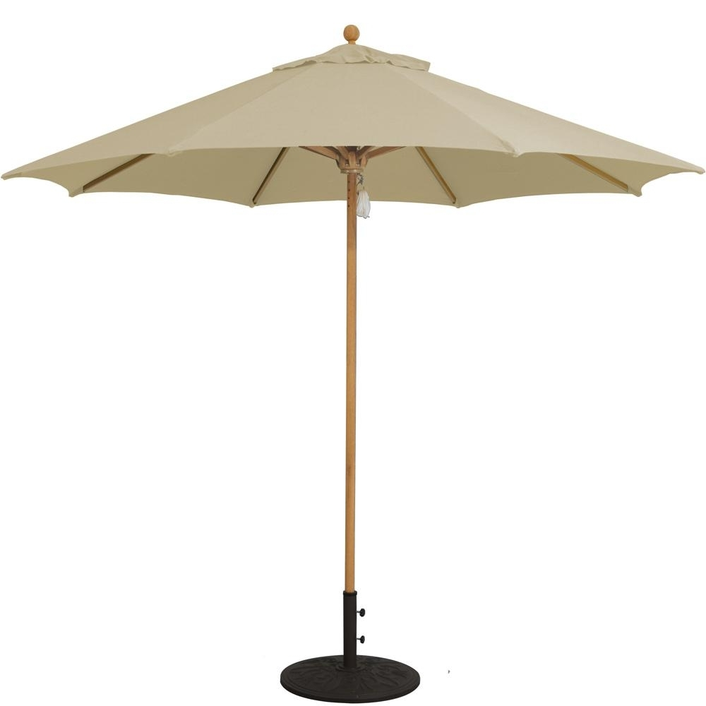 Famous Sunbrella Teak Umbrellas In Galtech 9 Ft (View 3 of 20)