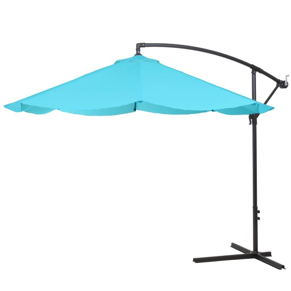 Fashionable Blue Patio Umbrellas For Pure Garden 10 Ft (View 2 of 20)