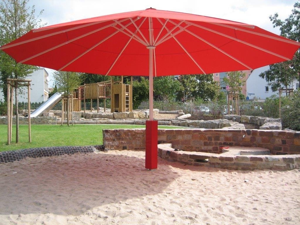 Fashionable Giant Patio Umbrella Idea : Kimberly Porch And Garden – The Upside Intended For Giant Patio Umbrellas (View 6 of 20)