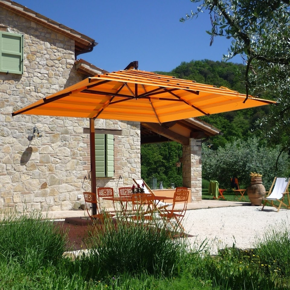Fashionable Luxury Offset Patio Umbrellas — Wilson Home Ideas : Outdoor Offset Throughout Deluxe Patio Umbrellas (View 8 of 20)