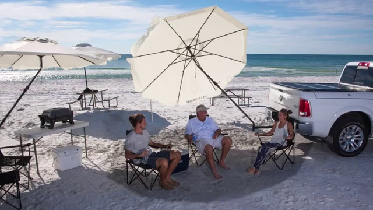 Fashionable Patio Umbrellas For Windy Locations Inside Best Outdoor Patio And Portable Umbrella Wind Resistant – Youtube (View 4 of 20)
