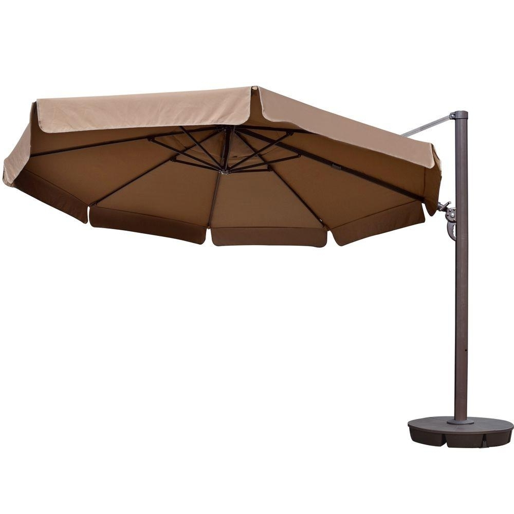 Fashionable Patio Umbrellas With Valance Throughout Island Umbrella Victoria 13 Ft (View 3 of 20)