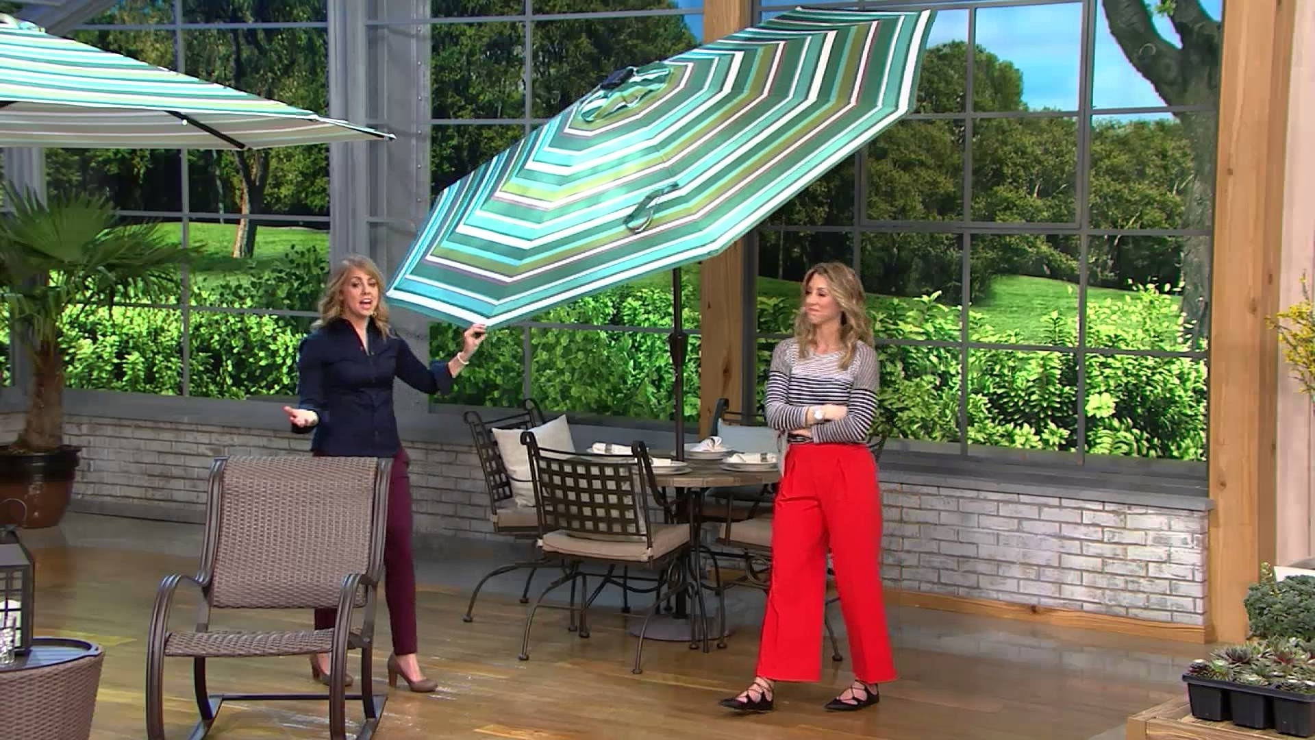 Favorite Atleisure 9' Light Solar Patio Umbrella With 44 Led's And Cover On Pertaining To Patio Umbrellas With Solar Lights (View 17 of 20)
