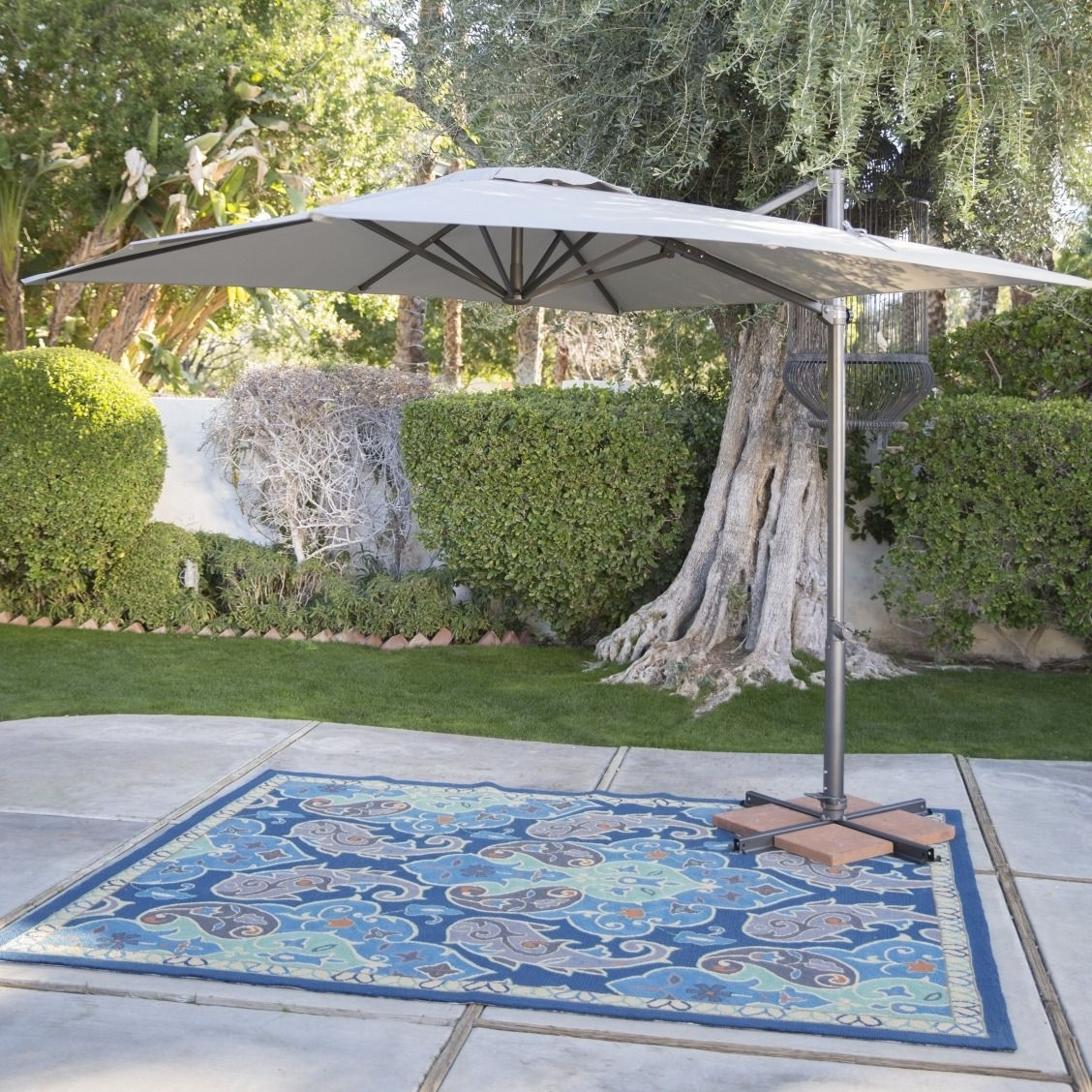 Favorite Coral Coast Offset Patio Umbrellas Pertaining To Coral Coast 8.5 Ft (View 13 of 20)