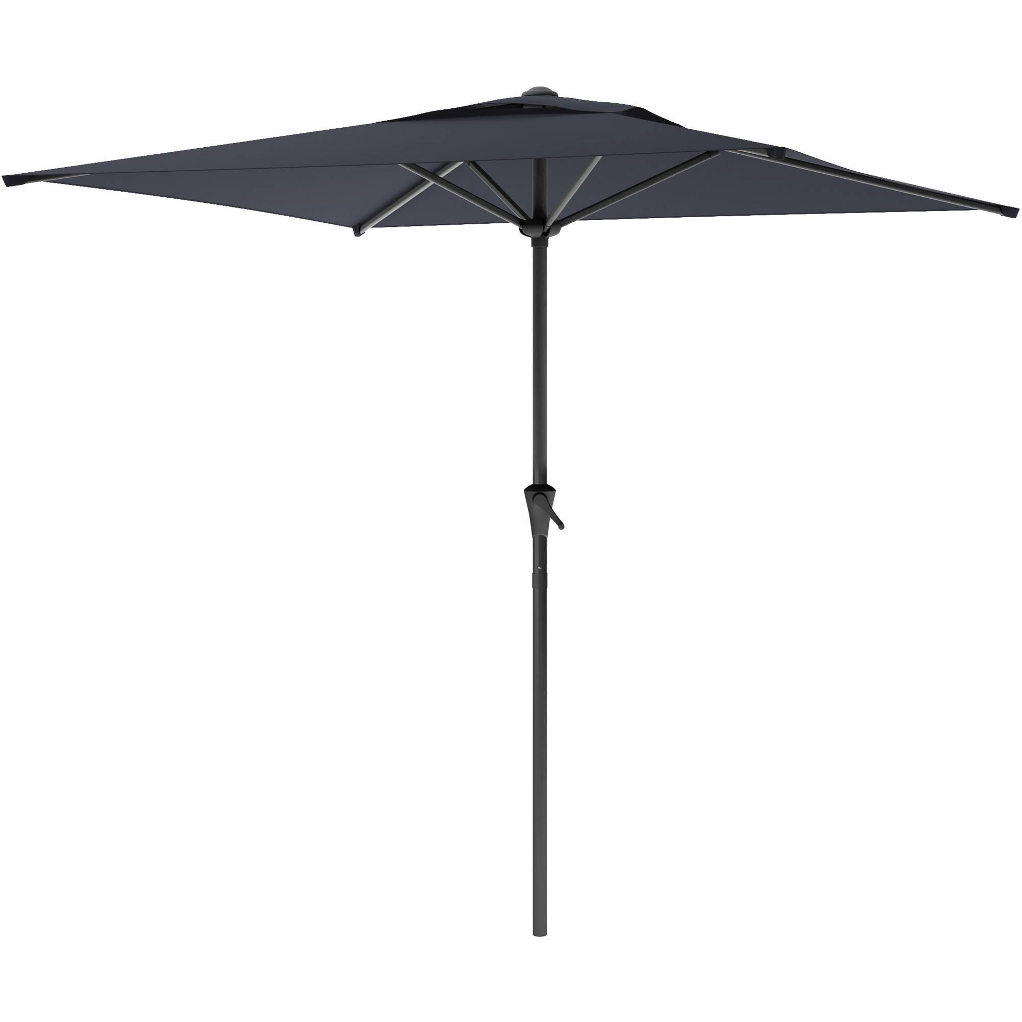 Favorite Sonax Corliving Square Patio Umbrella Metal Umbrellas In Black (View 12 of 20)