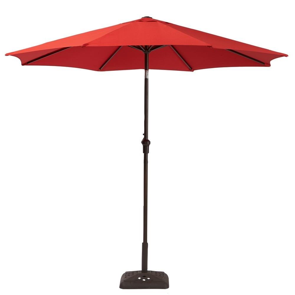 Favorite Tilting Patio Umbrellas With Hampton Bay 9 Ft (View 7 of 20)