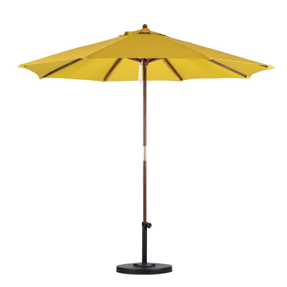 Favorite Yellow Patio Umbrellas Within California Umbrella 9 Ft (View 2 of 20)