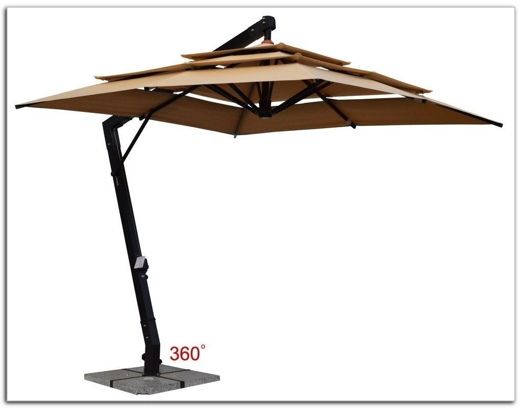 Freestanding Patio Umbrella For Pool Farmhouse Design And Intended For 2018 Free Standing Patio Umbrellas (View 11 of 20)