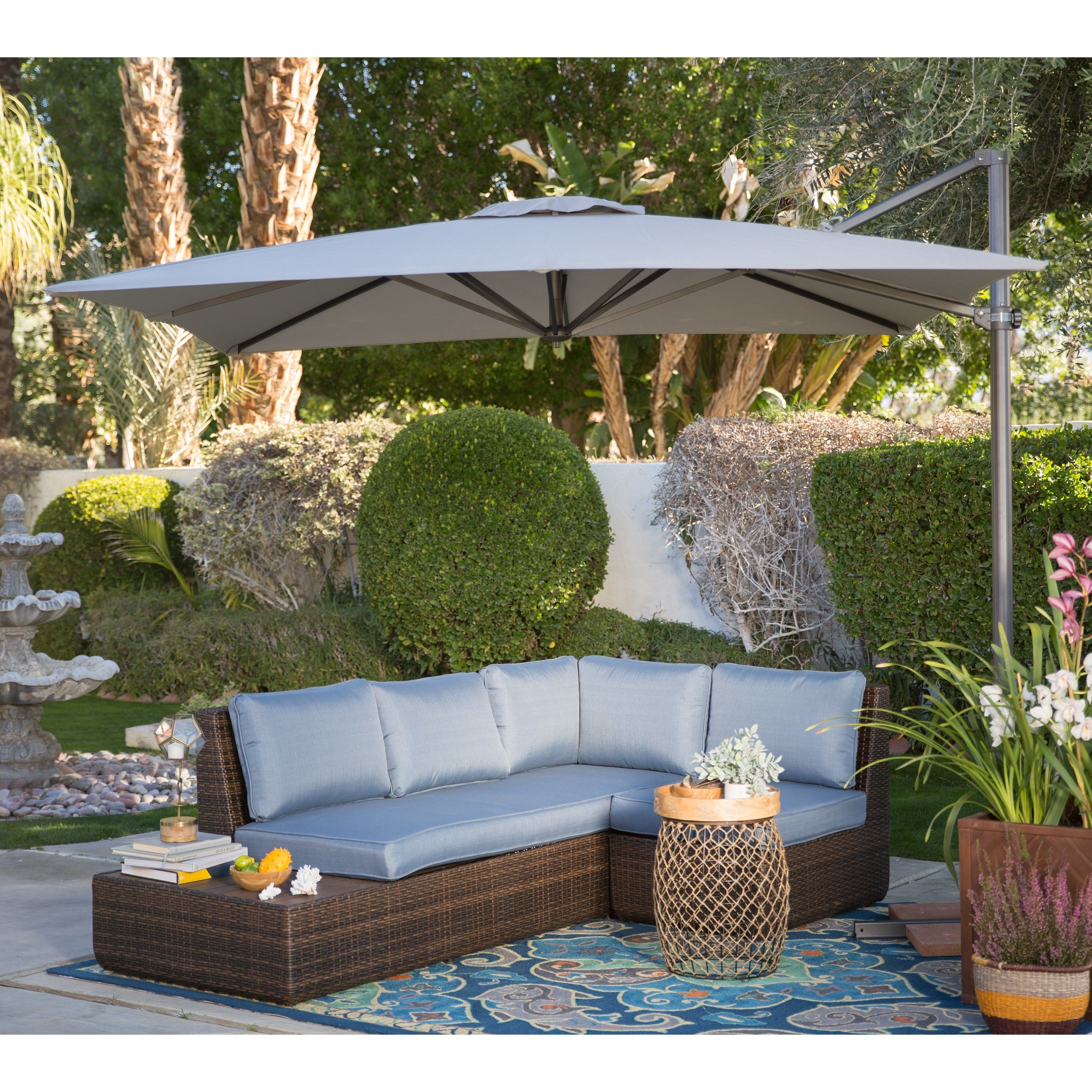 From Hayneedle With Preferred Offset Patio Umbrellas (View 11 of 20)