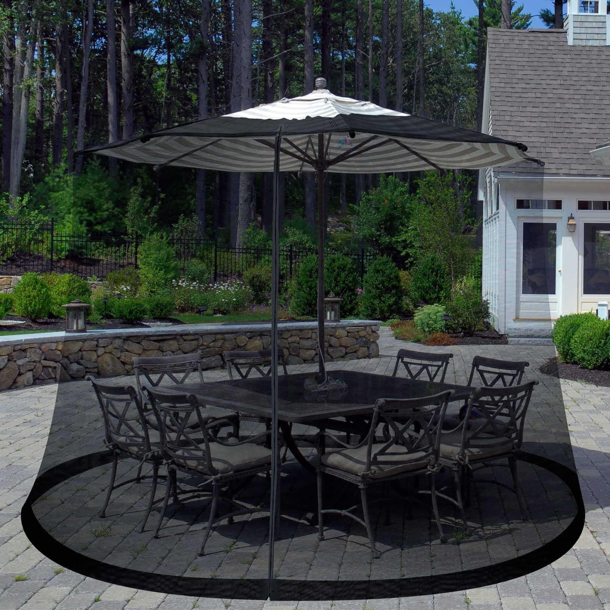Furniture: Costco Cantilever Umbrella For Most Dramatic Shade With Popular Sunbrella Black Patio Umbrellas (View 6 of 20)