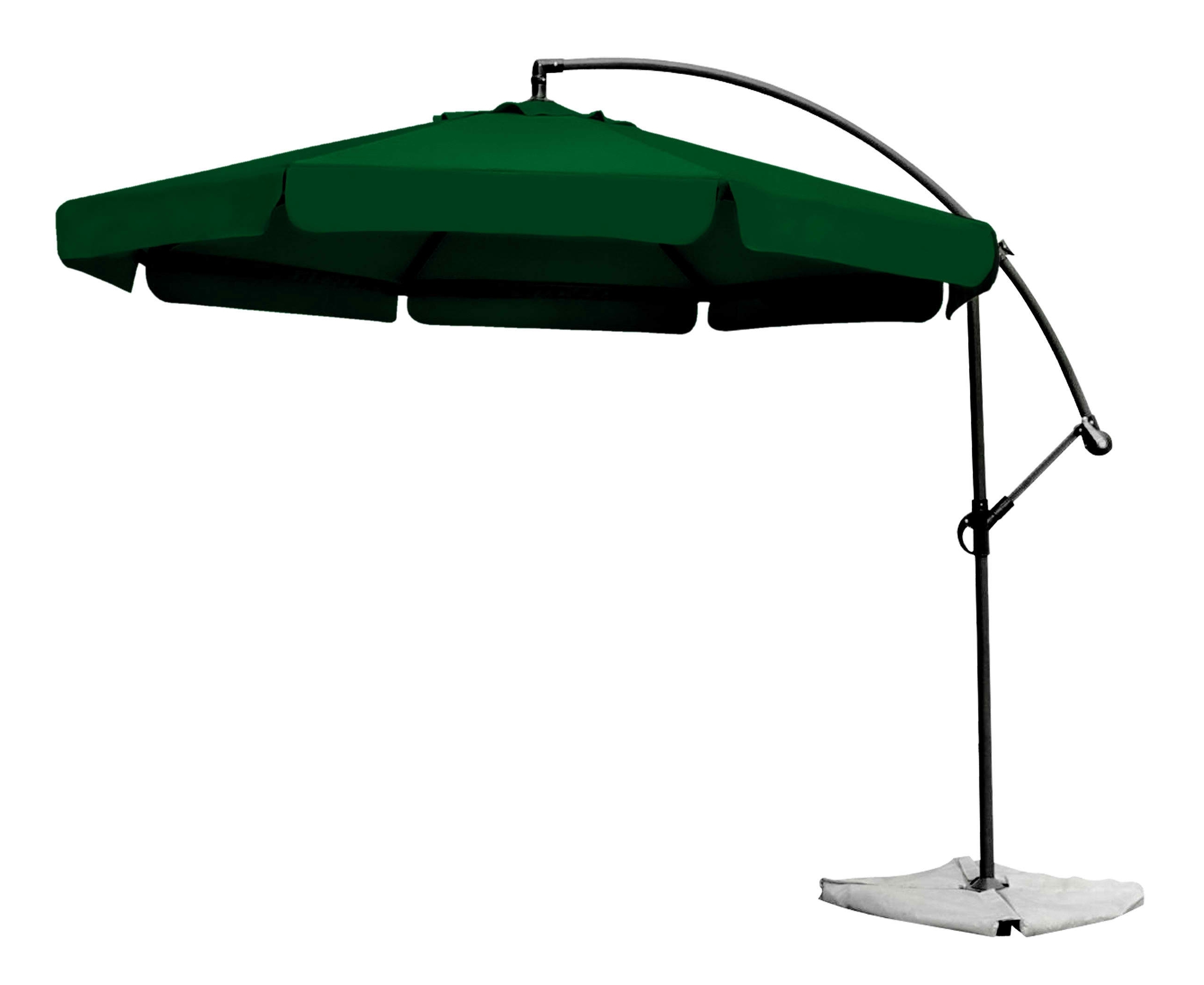 Furniture: Green Cantilever Umbrella Metal Crank And Tilt For Your Throughout Preferred Green Patio Umbrellas (View 5 of 20)