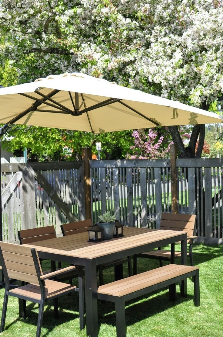 Furniture: Outdoor Patio Umbrella Eclipse Offset Patio Umbrella Regarding Most Current Eclipse Patio Umbrellas (View 11 of 20)