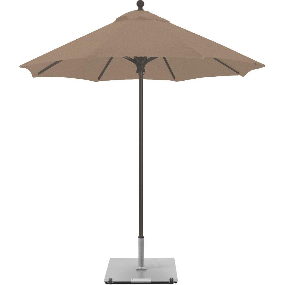 Galtech 7.5 Ft. Commercial Octagonal Aluminum Patio Market Umbrella Within Most Recently Released Sunbrella Teak Umbrellas (Gallery 16 of 20)
