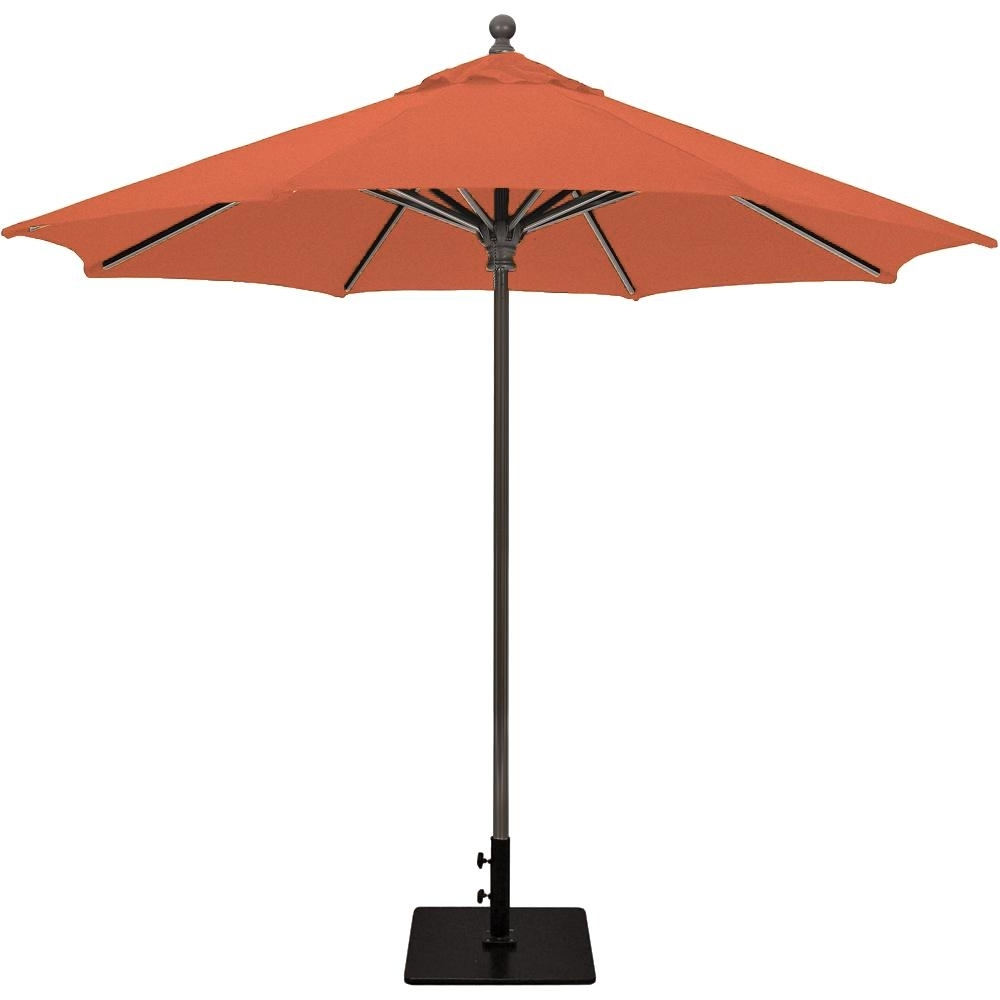 Galtech 9 Ft. Commercial Octagonal Aluminum Patio Market Umbrella W Pertaining To Recent Commercial Patio Umbrellas Sunbrella (Gallery 15 of 20)