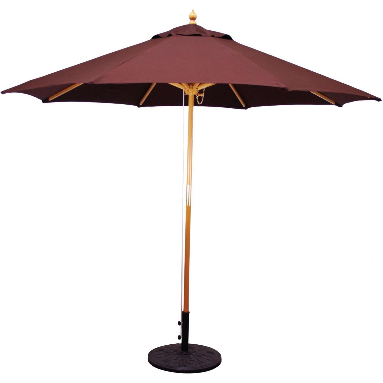 Galtech 9 Ft Wood Patio Fascinating Wooden Patio Umbrellas – Home With Popular Wooden Patio Umbrellas (Gallery 9 of 20)
