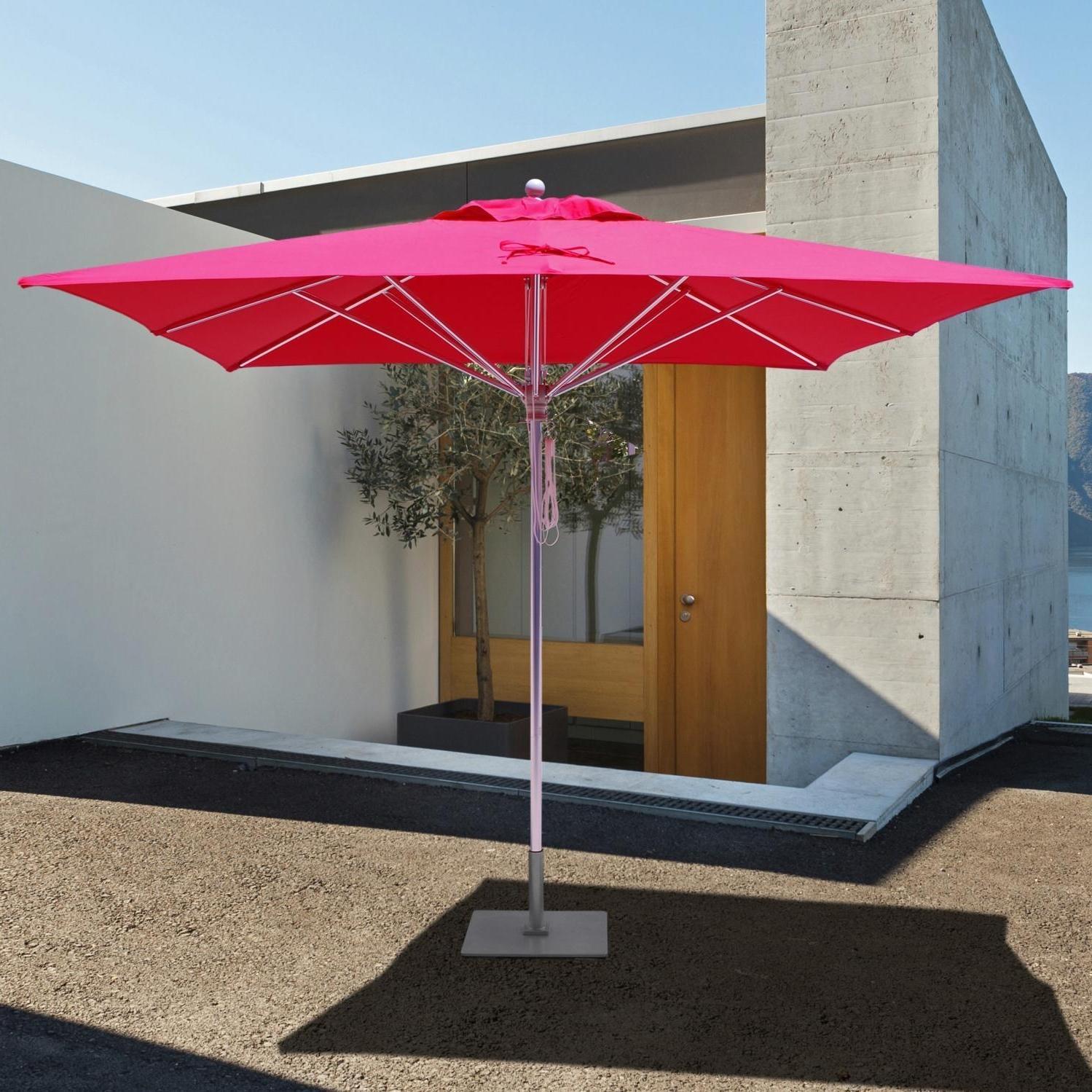 Galtech Sr Series 10 Ft Square Aluminum Commercial Patio Umbrella Pertaining To Favorite Square Patio Umbrellas (Gallery 7 of 20)