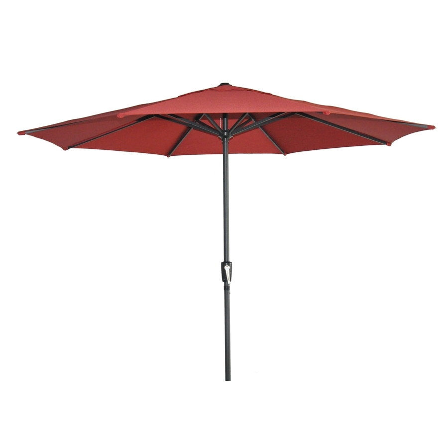 Garden Treasures Patio Umbrellas For Well Known Shop Garden Treasures Patio Umbrella (common: 105 In W X 105 In L (View 2 of 20)