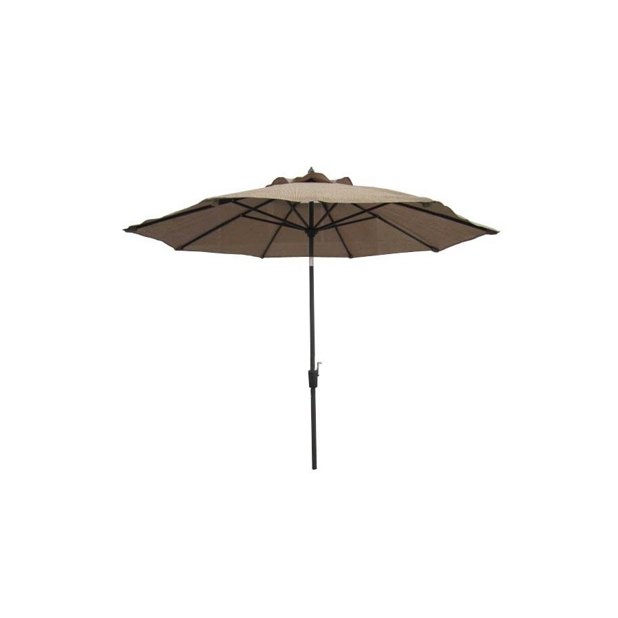 Garden Treasures Patio Umbrellas Intended For Most Current Shop Garden Treasures Patio Umbrella (common: 106 In W X 106 In L (View 3 of 20)