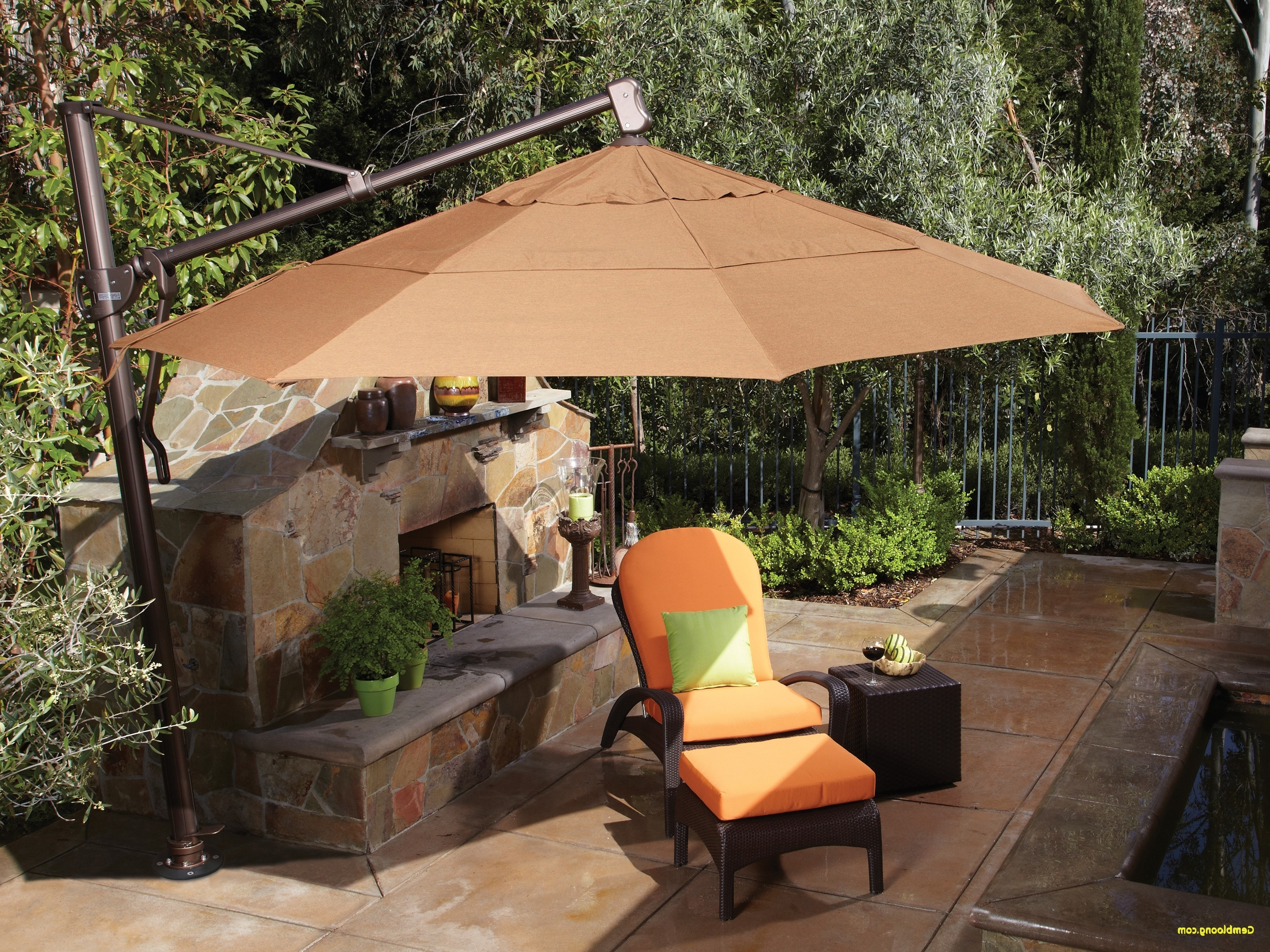 Garden Treasures Patio Umbrellas Within Most Up To Date Patio Umbrella Replacement Parts Best Of Home Design Garden (View 8 of 20)