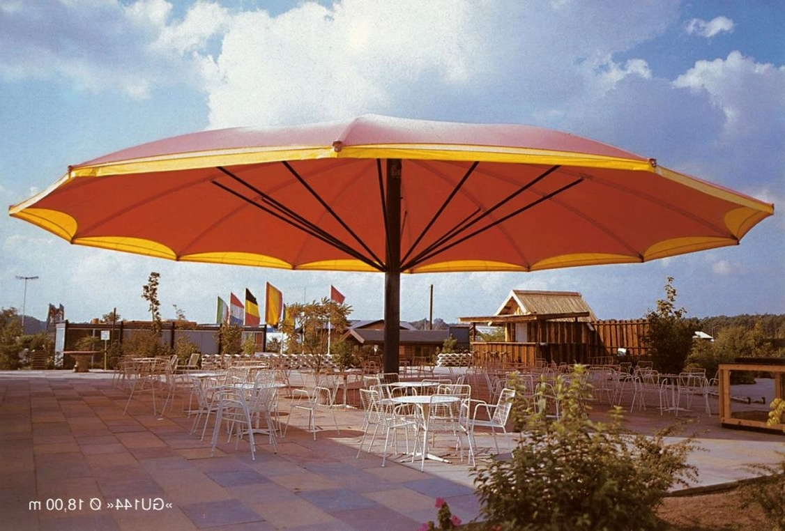 Giant Patio Umbrellas In 2019 Genuine Wooden Deck Pattern In Patio For Outdoor Lamps Along With (Gallery 11 of 20)